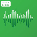 Vector sound waveform icon. Business concept Sound waves and mus Royalty Free Stock Photo