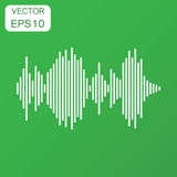 Vector sound waveform icon. Business concept Sound waves and mus Stock Image