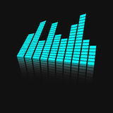 Vector sound waveforms icon on mirror. Royalty Free Stock Image
