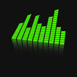 Vector sound waveforms icon on mirror. Royalty Free Stock Photography