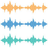 Vector sound waves. Music Digital Equalizer. Audio technology Royalty Free Stock Photos