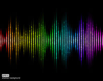 Vector sound waves. Music Digital Equalizer. Royalty Free Illustration