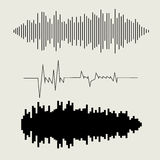 Vector sound waves set. Audio equalizer technology Royalty Free Stock Photography