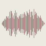 Vector sound waves set. Audio equalizer technology Stock Image