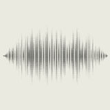 Vector sound waves set. Audio equalizer technology Royalty Free Stock Images