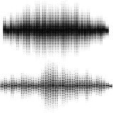 Vector sound waves set. Audio equalizer technology, pulse musical. Vector illustration of music pattern and texture Royalty Free Stock Photo