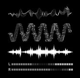 Vector sound waves set Royalty Free Stock Photos