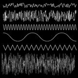 Vector sound waves set Royalty Free Stock Photography