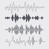 Vector sound waves set. Music. Vector Stock Image
