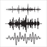 Vector sound waves set. Vector illustration. Stock Images