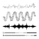 Vector sound waves set Royalty Free Stock Images