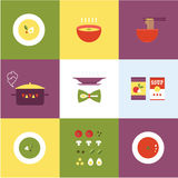 Vector soup icon Royalty Free Stock Photos