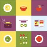 Vector soup icon Royalty Free Stock Photos