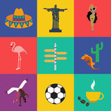 Vector south america Royalty Free Stock Image