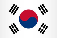 Vector South Korean flag background Royalty Free Stock Images
