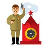 Vector Soviet leader parodic character. Flat style colorful Cartoon illustration Royalty Free Stock Photo