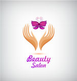 Vector spa, beauty salon, cosmetics, massage logo. Stock Photos