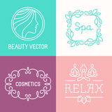 Vector spa and cosmetics logos Stock Images