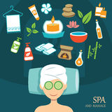 Vector spa flat design. Background Stock Image