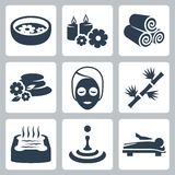Vector spa icons set Royalty Free Stock Photography