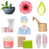 Vector SPA Icons Set 1 Royalty Free Stock Photo