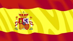 Vector Spaanse Vlag royalty-vrije stock fotografie