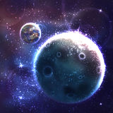 Vector space background with unknown planet Stock Photography