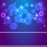 Vector space blue background illustration Royalty Free Stock Image
