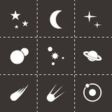 Vector space icon set Royalty Free Stock Photos