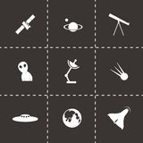 Vector space icon set Royalty Free Stock Images
