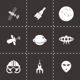 Vector space icon set Royalty Free Stock Photography
