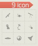 Vector space icon set Royalty Free Stock Image
