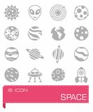 Vector Space icon set Stock Image