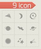 Vector space icons set Royalty Free Stock Photos