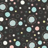 Space Night Sky Light Star Seamless Pattern Black Stock ...  Space Repeating Background Patterns