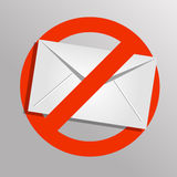 Vector spam icon. Envelope background. Eps 10 Stock Photo