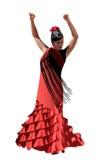 Vector spanish girl dances a flamenco Stock Photos