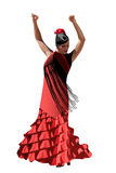 Vector spanish girl dances a flamenco vector illustration