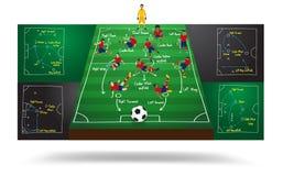 Vector spanish national team soccer football player Stock Image