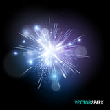Vector Spark Effect royalty free illustration