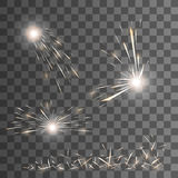 Vector spark effect. Royalty Free Stock Images
