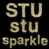 Vector sparkle alphabeth Stock Photography