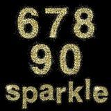 Vector sparkle alphabeth Royalty Free Stock Photo