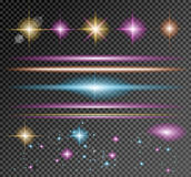 Vector Sparkle Collection with a lot of different Shapes Royalty Free Stock Photos