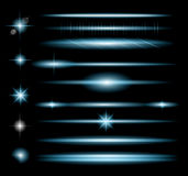 Vector Sparkle Collection with a lot of different Shapes Stock Photos
