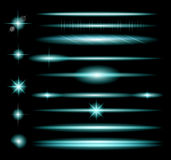 Vector Sparkle Collection with a lot of different Shapes: circolar lightning Stock Photos