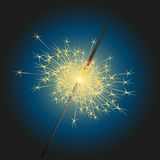 Vector sparkler Royalty Free Stock Photo