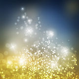Vector - Sparkling Cover Design Template with Abstract Blurred Background for Christmas, New Year Designs Stock Photo