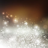 Vector - Sparkling Cover Design Template with Abstract Blurred Background Royalty Free Stock Images