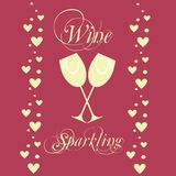 Vector sparkling wineglasses with wine Stock Images